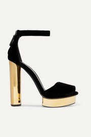 TOM FORD Velvet platform pumps