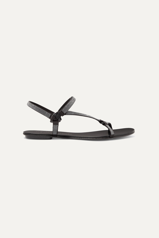 Pedro Garcia Ekin crystal-embellished satin slingback sandals