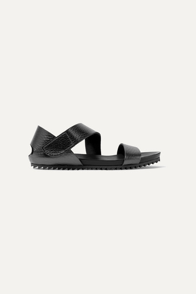 Jo Textured Leather Sandals by Pedro Garcia