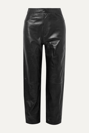 Totême Novara leather straight-leg pants