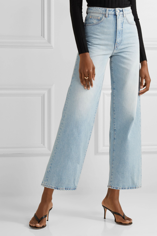 Totême Flair 高腰阔腿牛仔裤