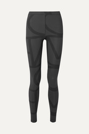 Totême Leon printed stretch-jersey leggings