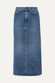 Totême Bitti denim midi skirt