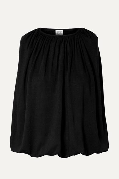 Maida Draped Stretch Jersey Top by Totême