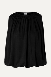 Totême Maida draped stretch-jersey top