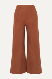 Scelsi cropped linen wide-leg pants