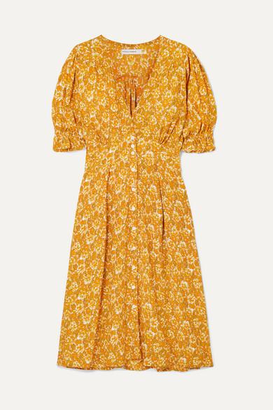Rafa Floral Print Crepon Midi Dress by Faithfull The Brand