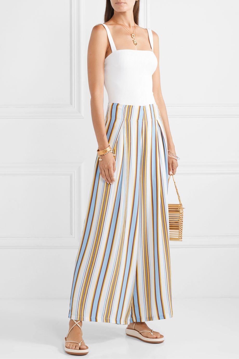 Faithfull The Brand Opal striped voile wide-leg pants