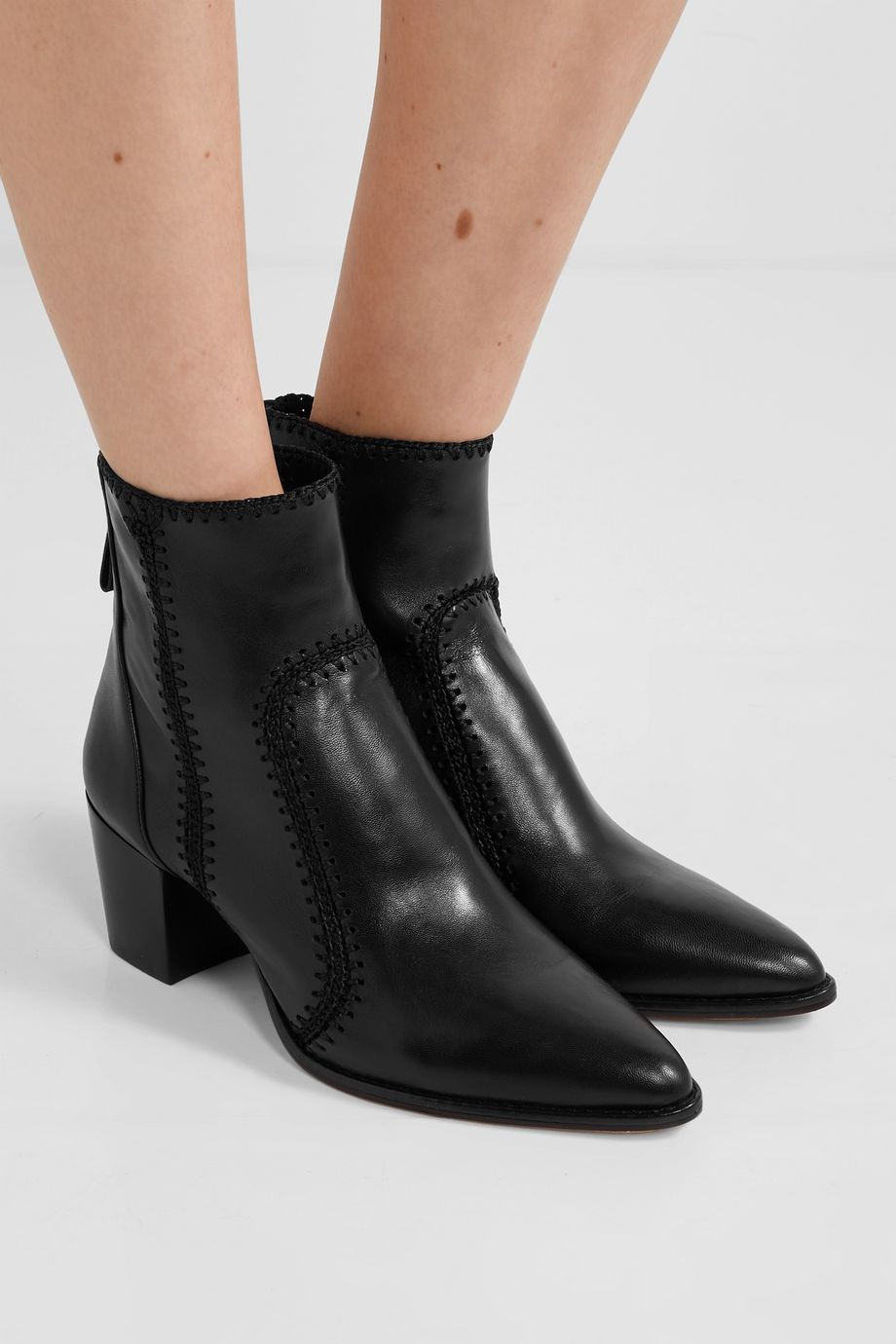 Alexandre Birman Benta whipstitched leather ankle boots