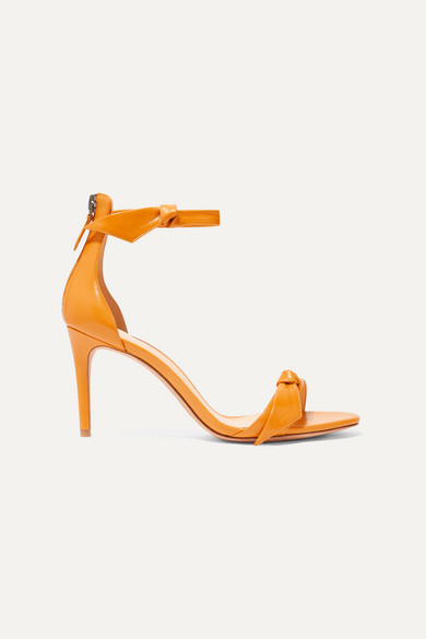 clarita-bow-embellished-glossed-leather-sandals by alexandre-birman