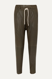Bassike + NET SUSTAIN leather track pants