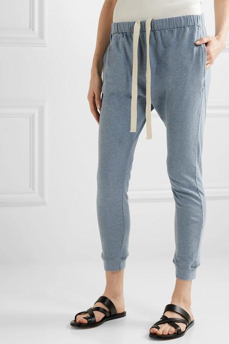 Organic cotton-jersey track pants