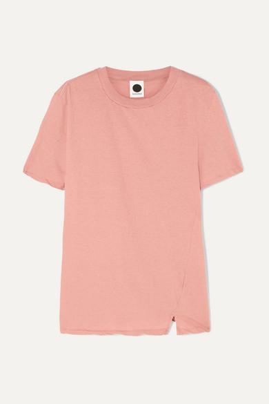 BASSIKE | Bassike - Organic Cotton-Jersey T-Shirt - Peach | Goxip