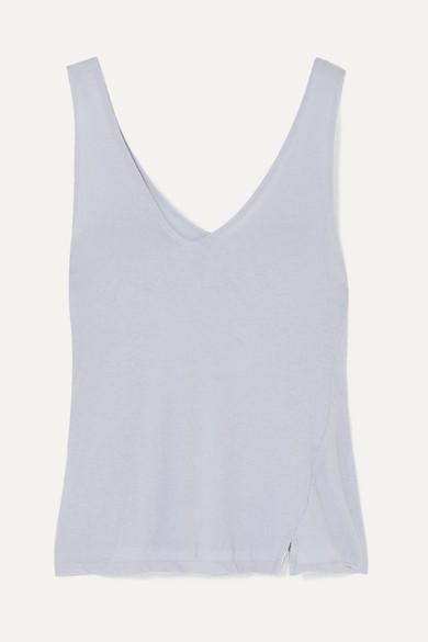 BASSIKE | Bassike - Organic Cotton-Jersey Tank - Blue | Goxip