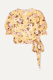 Faithfull The Brand Mali floral-print crepe wrap top