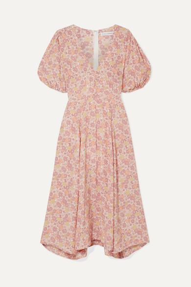 Faithfull The Brand Faithfull The Brand - Delia Floral-print Voile Midi Dress - Pink