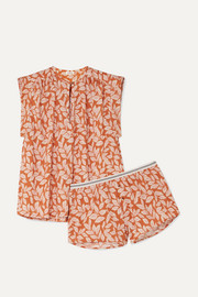Mila and Sunday printed cotton-poplin pajama set