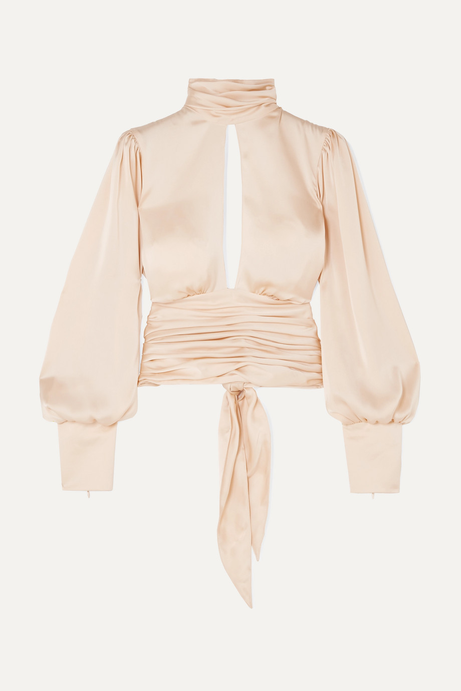 Orseund Iris Blouse dos ouvert en satin à fronces Night Out
