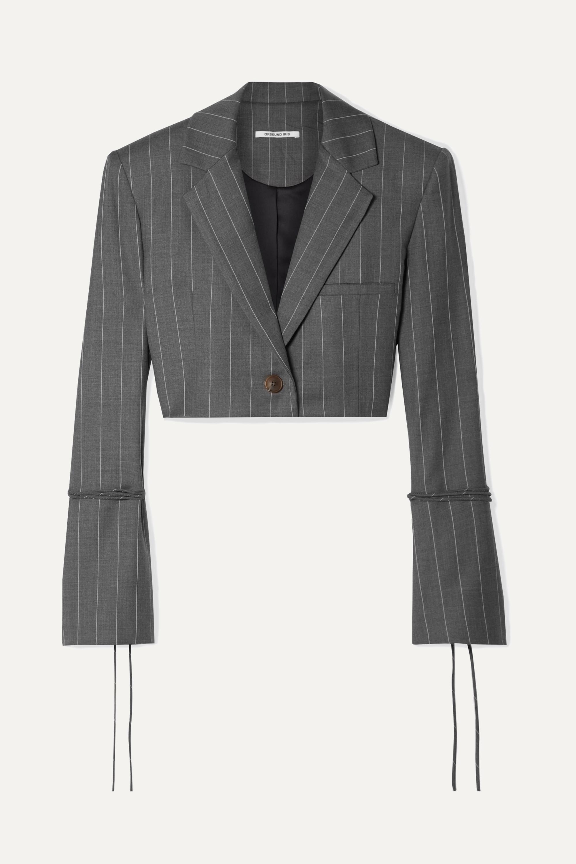 Orseund Iris Blazer raccourci en laine mélangée à fines rayures Box