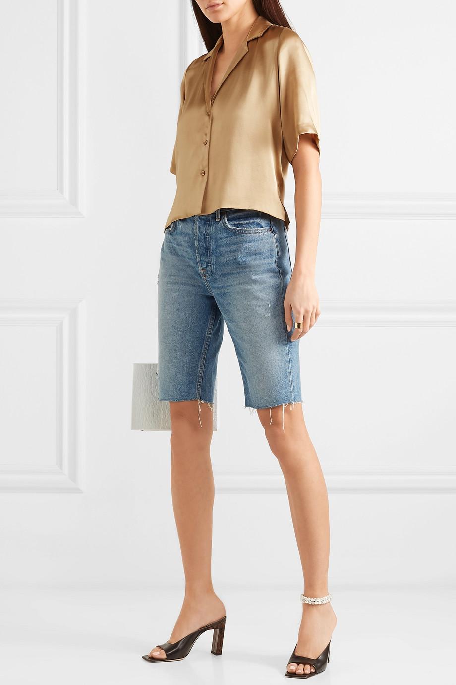 Orseund Iris Le Funk silk-satin shirt