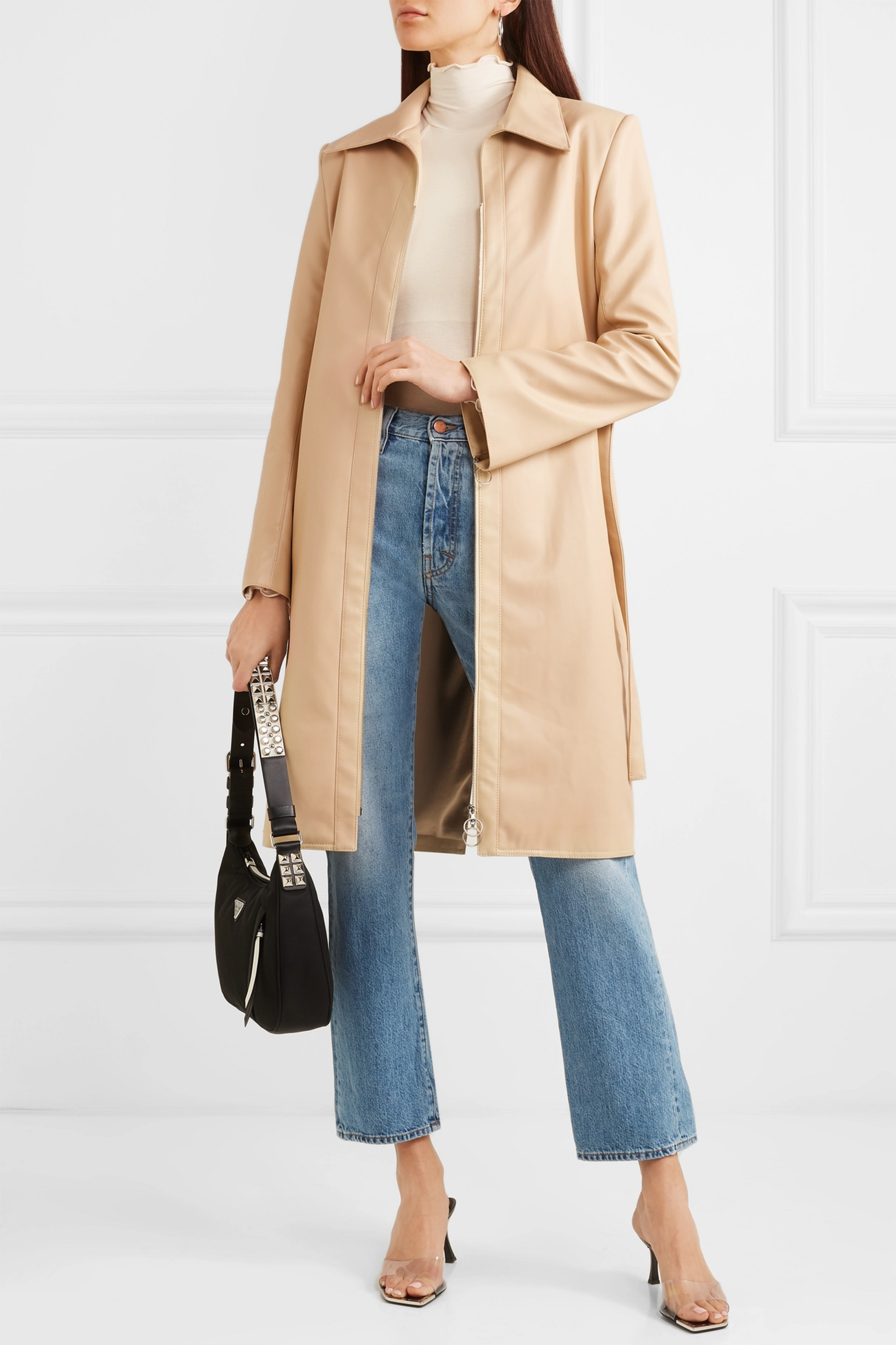 Orseund Iris Belted vegan leather jacket