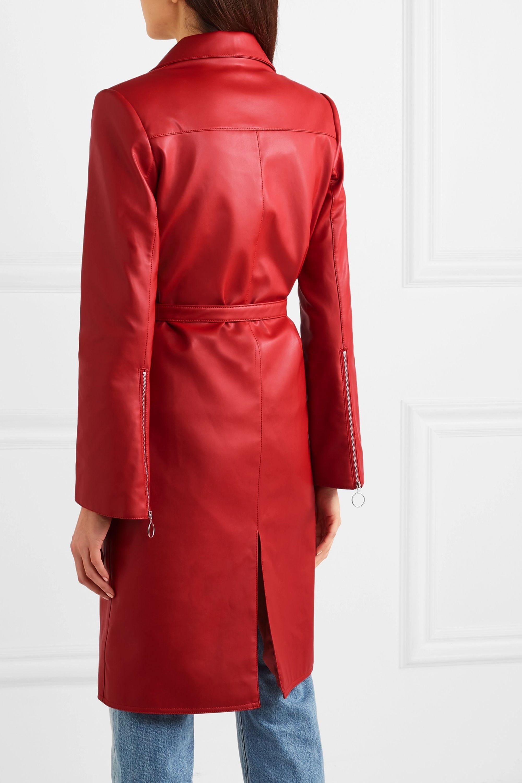 Orseund Iris Belted vegan leather jacket