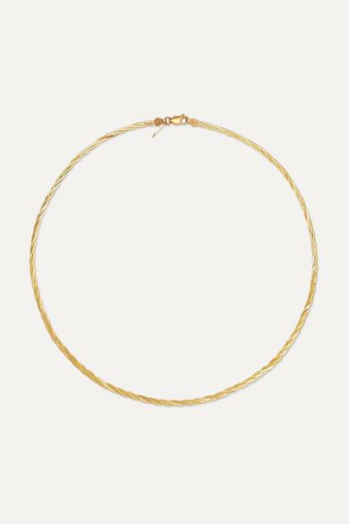 LOREN STEWART | Loren Stewart - Demi Herringbone Gold Necklace - One Size | Goxip