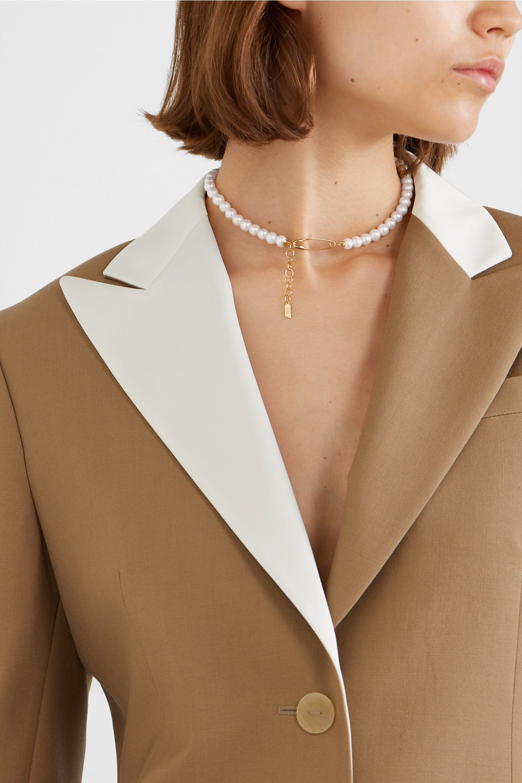 Loren Stewart Gold pearl choker
