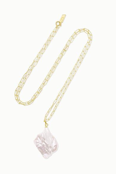 LOREN STEWART | Loren Stewart - Gold Pearl Necklace - One Size | Goxip