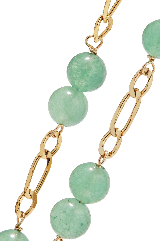 Loren Stewart Gold aventurine bracelet