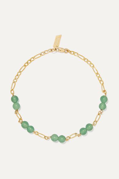 LOREN STEWART | Loren Stewart - Gold Aventurine Bracelet - One Size | Goxip