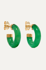Loren Stewart Stone gold jade hoop earrings