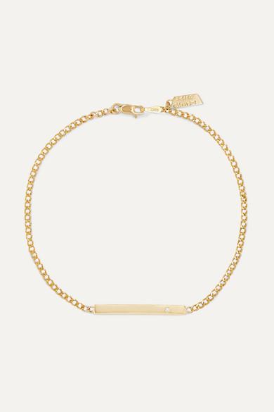 LOREN STEWART | Loren Stewart - Gold Diamond Bracelet - One Size | Goxip