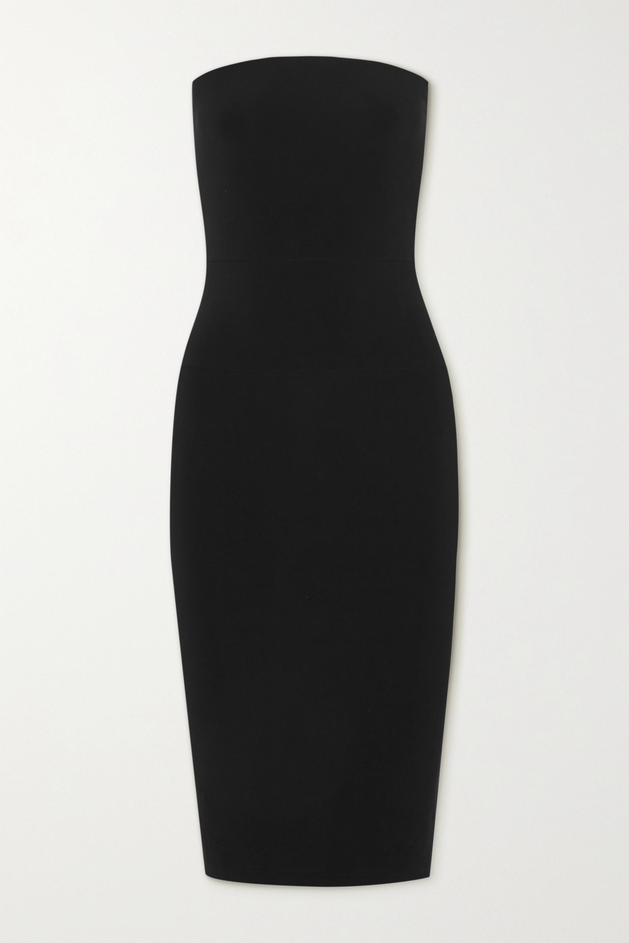Norma Kamali Strapless stretch-jersey dress