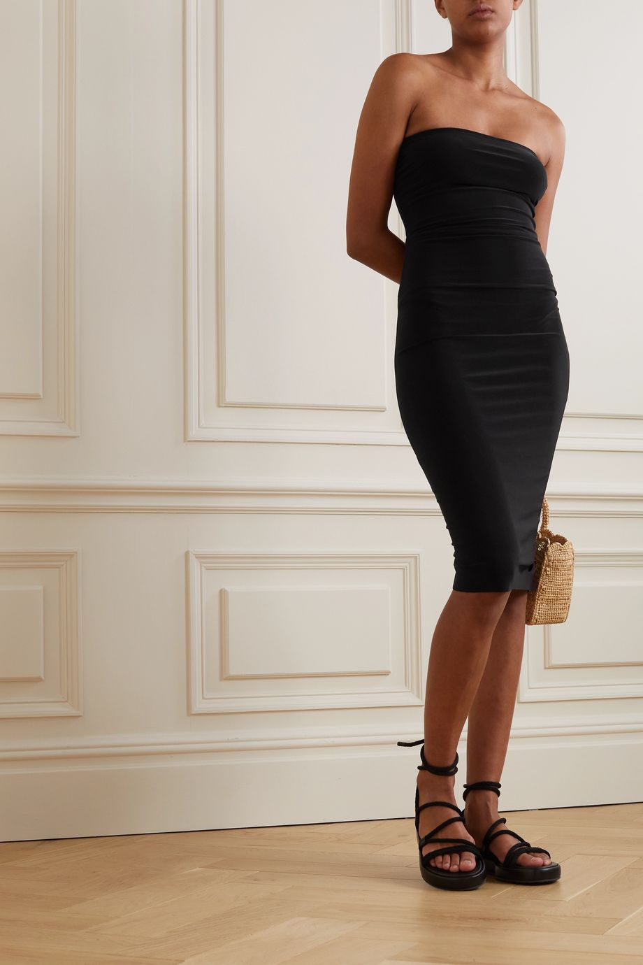 Norma Kamali Strapless stretch-jersey dress