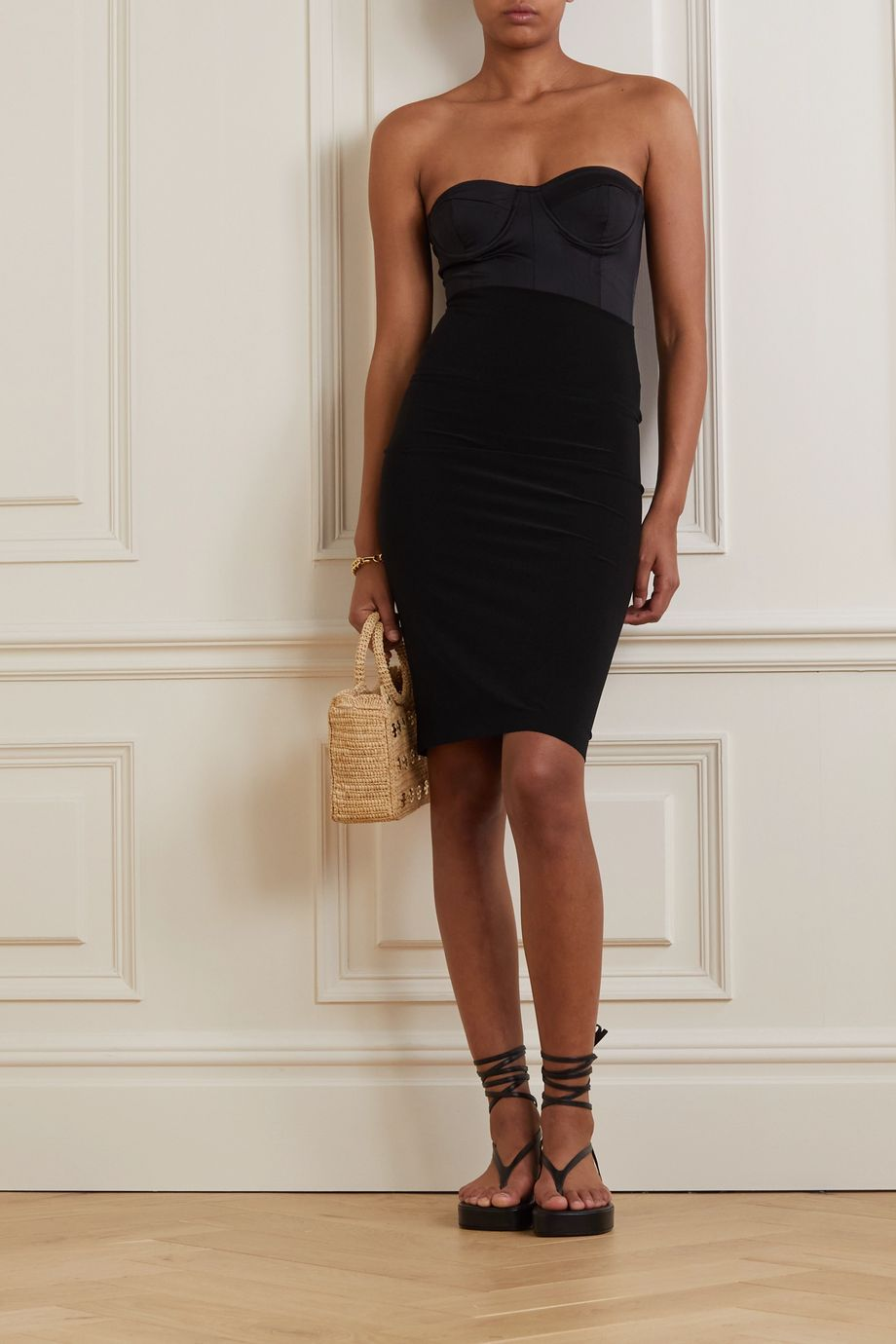 Norma Kamali Stretch-jersey skirt