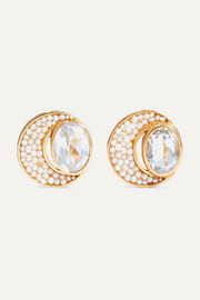 Percossi Papi Gold-plated topaz and pearl earrings