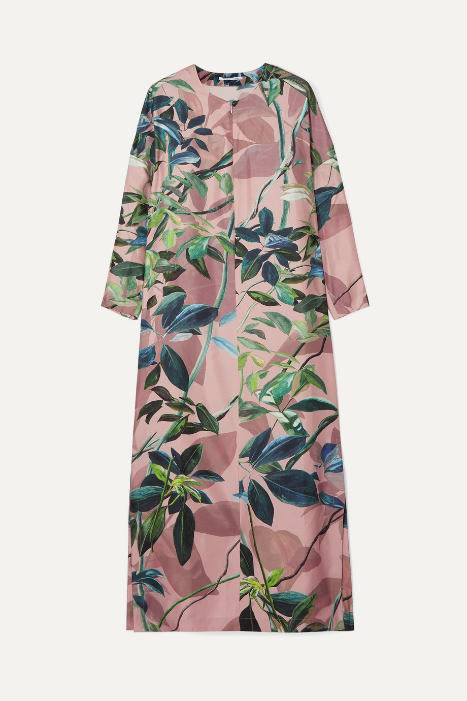 Agnona | Printed silk midi dress | NET-A-PORTER.COM