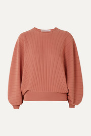 Pleated wool sweater