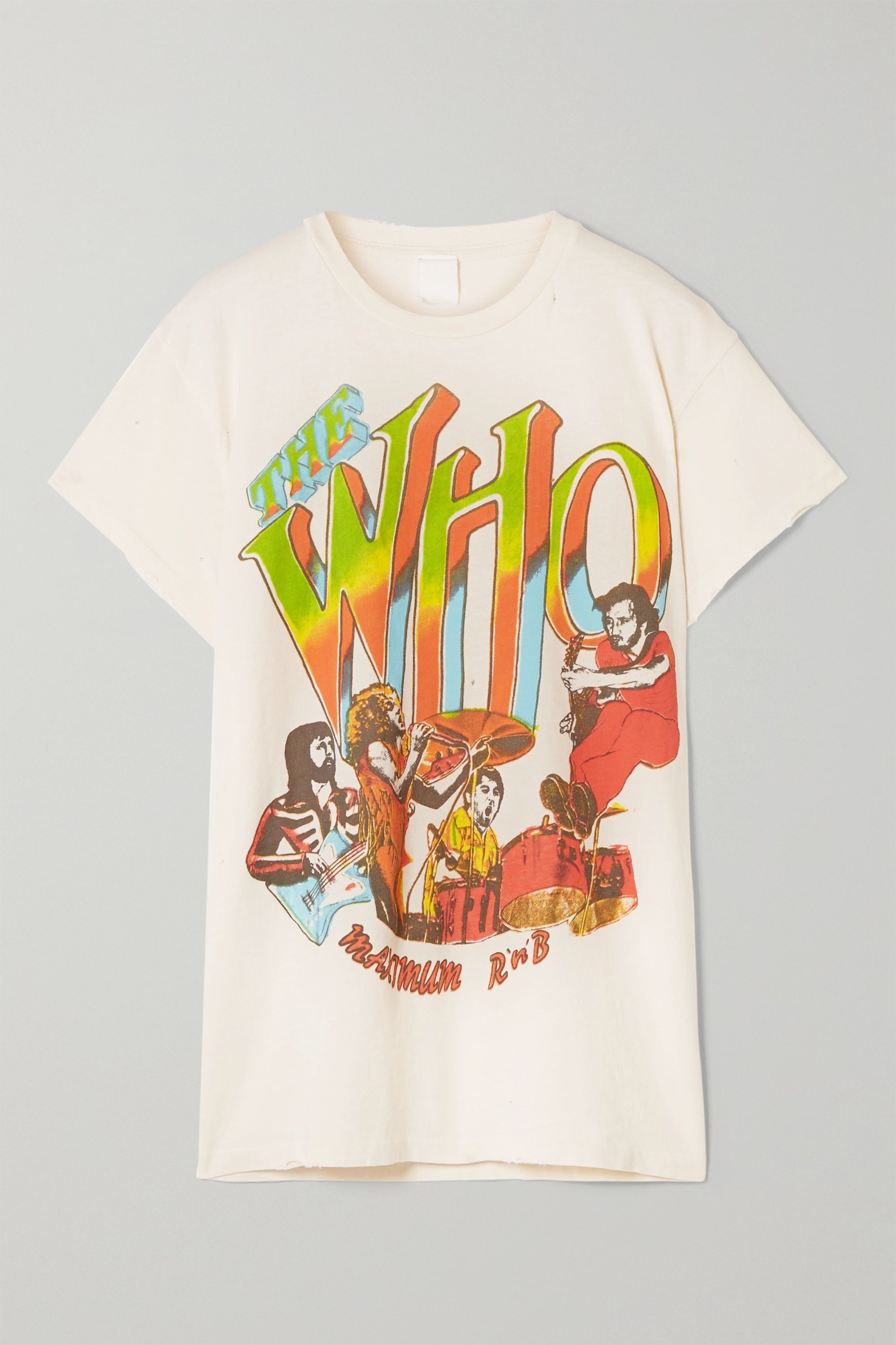 MadeWorn The Who distressed printed cotton-jersey T-shirt