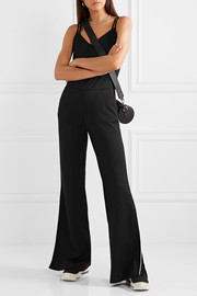 Olympic cotton-blend mesh jumpsuit