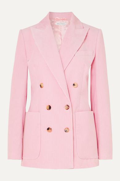 Bella Freud Blazers Bianca double-breasted cotton-corduroy blazer