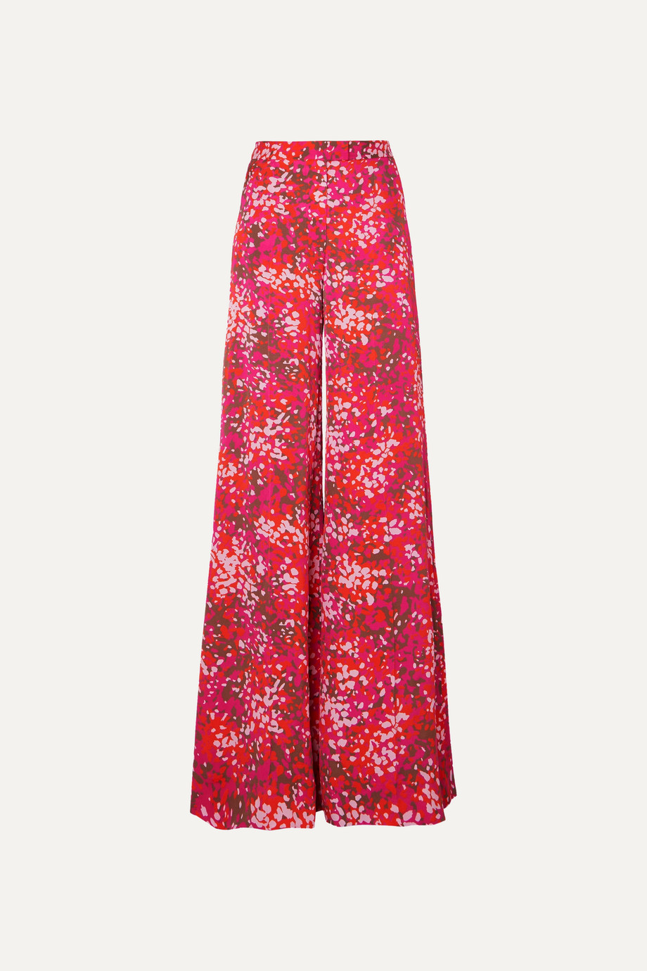 Stella McCartney + NET SUSTAIN printed crepe de chine wide-leg pants