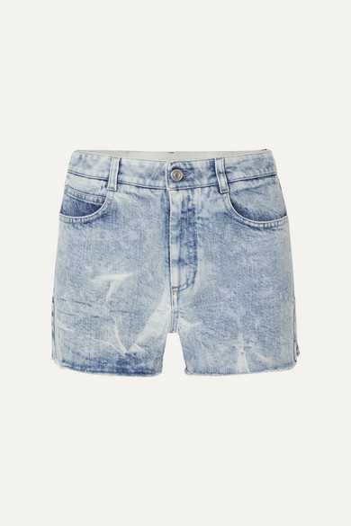 Stella Mccartney Shorts + NET SUSTAIN embroidered distressed denim shorts
