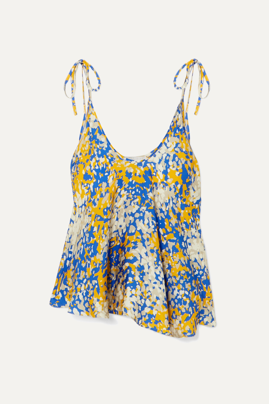 Stella McCartney + NET SUSTAIN tie-detailed printed crepe camisole