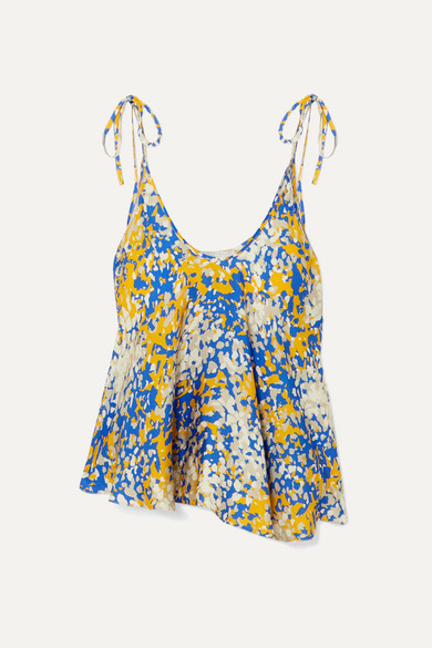 + Net Sustain Tie Detailed Printed Crepe Camisole by Stella Mc Cartney