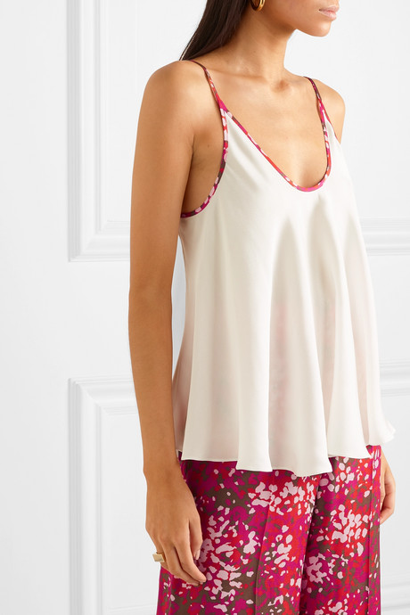 + NET SUSTAIN piped crepe camisole