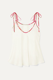 Stella McCartney + NET SUSTAIN piped crepe camisole