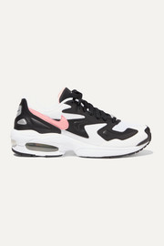 Air Max2 Light mesh, faux leather and suede sneakers