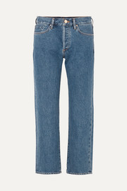 The Relaxed mid-rise straight-leg jeans